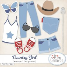 Country Girl Templates by Kim Cameron