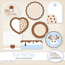 Cow Tail Tag Templates