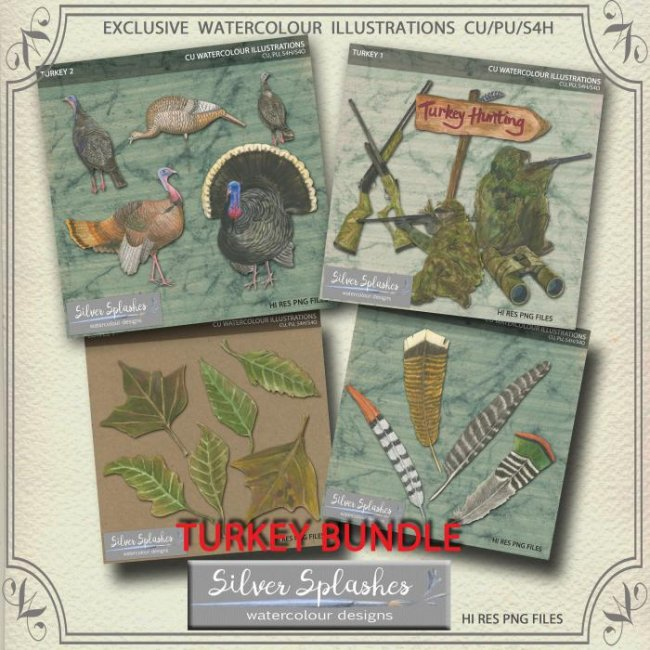 EXCLUSIVE Turkey Hunting Bundle by Silver Splashes