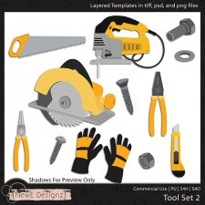 EXCLUSIVE Layered Tools Templates Set 2 by NewE Designz