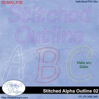 Stitched Alpha Outline 02 by Boop Designs