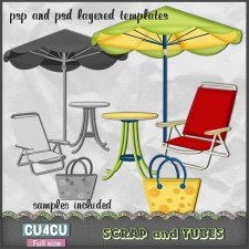 Summer Templates 5 CU4CU by Scrap and Tubes