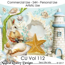 Sea Life Mix - CU Vol 112 by MagicalReality Designs
