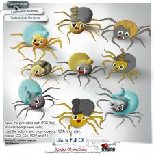 Spider 01-Actions by Eirene Designs