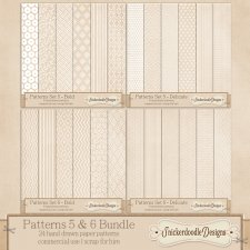Patterns Set 5 and 6 Bundle CU - S4H by SnickerdoodleDesigns