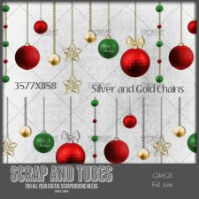 Christmas Balls Garland 2 CU4CU by Scrap and Tubes