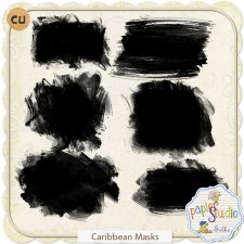 Caribbean Photo Masks EXCLUSIVE by Papierstudio Silke