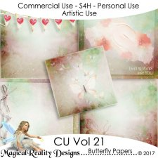 Butterfly Papers - CU Vol 21 by MagicalReality Designs