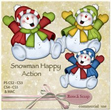 Action - Snowman Happy by Rose.li