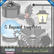 Christmas Templates 2 CU4CU by Scrap and Tubes