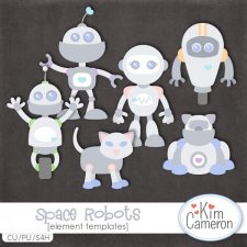 Space Robots Templates by Kim Cameron