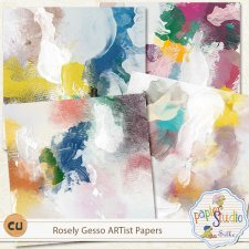 Rosely Gesso ARTist Papers EXCLUSIVE by PapierStudio Silke