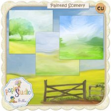 Background Scenery Painted Papers EXCLUSIVE by PapierStudio Silke