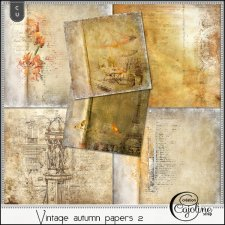 Vintage autumn papers 2 by Cajoline-Scrap