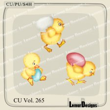 CU Vol 265 Animals Chick 2 by Lemur Designs