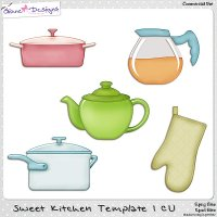 Sweet Kitchen Template CU 01 by Giane Designs