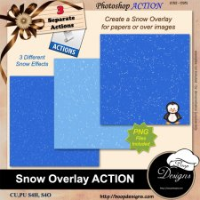 Snow Overlays ACTION by Boop Designs