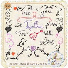 Together - Hand Sketched Doodles with Tutorial EXCLUSIVE by PapierStudio Silke