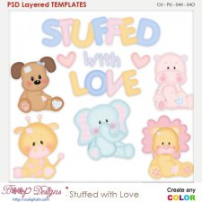 Stuffed with Love Layered Element Templates