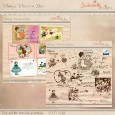 Vintage Valentine Duo by SnickerdoodleDesigns