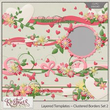 Layered Border Templates Set 2