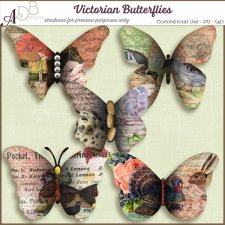Victorian Butterflies Elements by ADB Designs