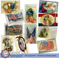 My Country Patriotic Postcards