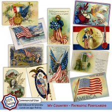 My Country Patriotic Postcards by ADB Designs