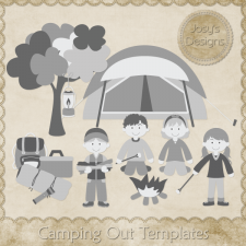 Camping Out Layered Templates by Josy
