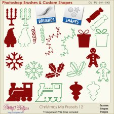 Christmas Brush & Shape PRESETS 12