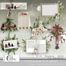 Christmas pack CU 9 - derivative by Cajoline-Scrap