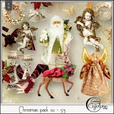 Christmas pack CU - 53 by Cajoline-Scrap