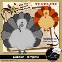 Gobbler TEMPLATE by Boop Designs