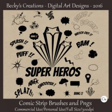 Comic Strip Brushes and Pngs by Beckys Creations