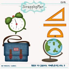Back To School Vol 2 Template - Clipart by ScrapingMar