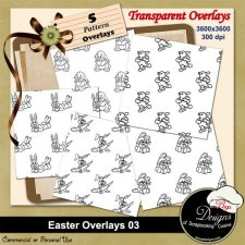 Easter Pattern Overlays 03 by Boop Designs