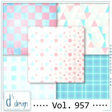 Vol. 957 - Fifties papers - by Doudou's Design