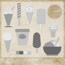 Iced Treat Layered Templates 1 by Josy