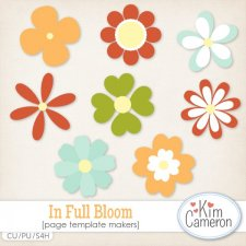 In Full Bloom Templates by Kim Cameron