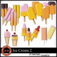 Ice Cream 2 Elements by Happy Scrap Art