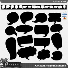 Bubble Speech Shapes by Peek a Boo Designs