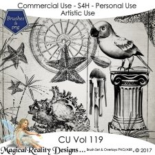 Brush Set And Overlays - CU Vol 119 by MagicalReality Designs