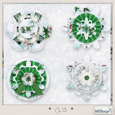 CU set 13 christmas star rosette by MLDesigns