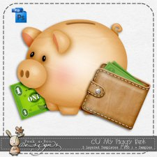My Piggy Bank Templates by Peek a Boo Designs