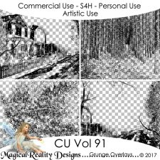Grunge Overlays - CU Vol 91 by MagicalReality Designs
