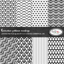 Geometric overlays, paper templates