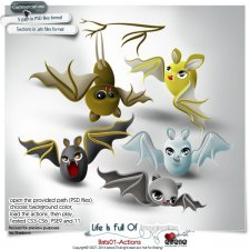 Bats 01-Actions by Eirene Designs