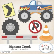 Monster Truck Templates by Kim Cameron