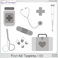 First Aid Templates 1 CU by Giane Designs