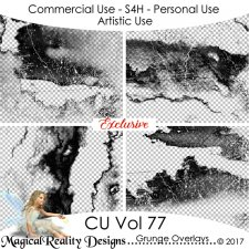 Grunge Overlays - CU Vol 77 by MagicalReality Designs